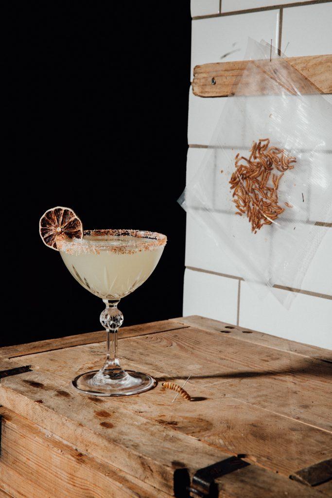 Mezcal Margarita Cocktail mit Fernet Hunter und Wurmsalz